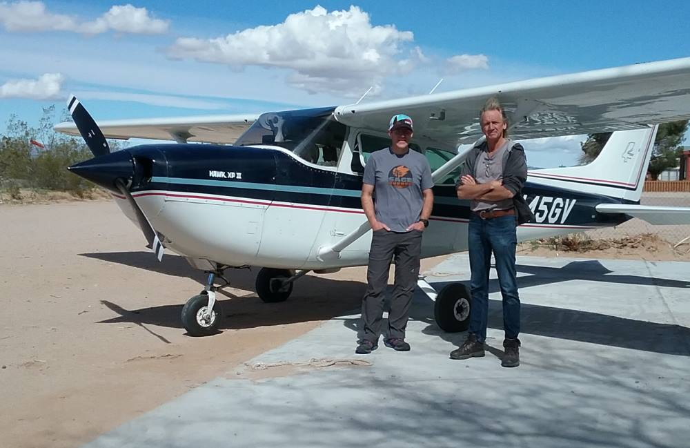 Bush Air - Advanced flying course. CC Pocock and Kyle Stone with his Cessna Hawk XP