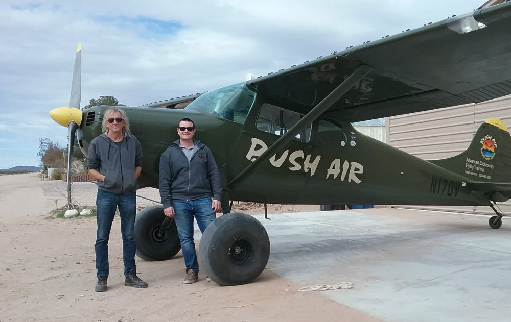 Bush Air - Advanced flying course. CC Pocock and Max Reynaud. Bush Air C170B N170V