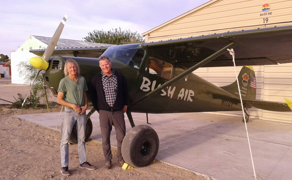 Bush Air - Advanced Bush and Mountain flying course. CC Pocock with Peter Dutschle and the Bush Air C170B Bushplane trainer